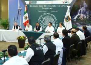 Se reúne el Secretario de Gobernación con empresarios y delegados federales y locales en Tamaulipas