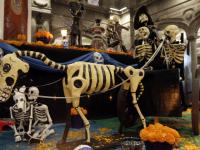 Corredor de Ofrendas de Día de Muertos en Puebla
