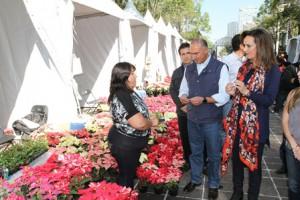 Recorre secretario José Calzada Rovirosa Expo Nochebuena 2016