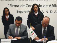 FIRMAN CONVENIO DE AFILIACIÓN EL SEGURO POPULAR Y LA ANDA