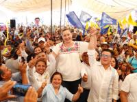 Martha Erika Alonso confirma las preferencias de los poblanos en la intención de voto a su favor.