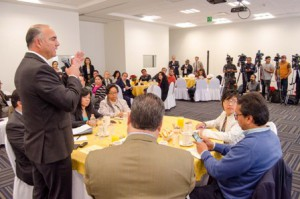 El titular de SAGARPA , José Calzada, en conferencia  en la que evaluó los resultados de la México Alimentaria Food Show